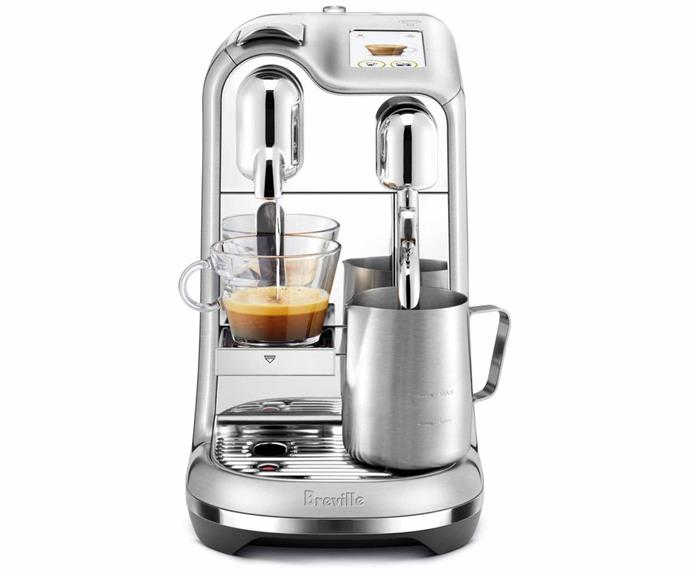 "**Breville 'Nespresso Creatista Pro' espresso maker, $1199, [Myer](https://www.myer.com.au/p/nespresso-by-breville-creatista-pro-brushed-stainless-stel-bne900bss|target=""_blank""