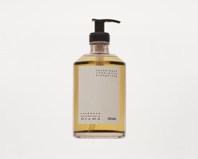 """Sydney bathroom specialist Oliver Thom collaborated with Copenhagen-based design firm Frama to create a luxurious range of bathroom hand-washes, creams and hair care. If the beautifully minimalist packaging wasn't enough to make you crave one, the scent of this hand-wash certainty will. With notes of Sandalwood, Cedar Wood, and Ylang Ylang, it's the ideal unisex scent for a sophisticated space. <br><br> FRAMA Apothecary Hand Wash, $88, [Oliver Thom](https://oliverthom.com.au/products/apothecary-hand-wash