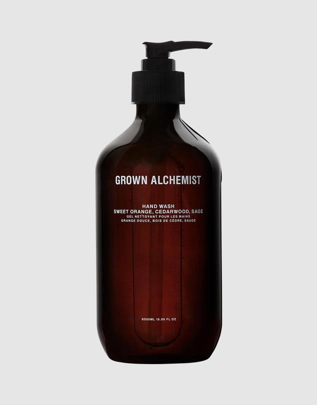 """The Grown Alchemist's 100% vegan handwash is a gentle cleanser for little and big hands. With almond and coconut oil to soften and moisturise, and natural cleaning agents such as fennel seed, it's sure to become a staple family favourite.  <br><br> Grown Alchemist Hand Wash in Sweet Orange, Cedarwood and Sage 500ml, $38, [The Iconic](https://www.theiconic.com.au/hand-wash-sweet-orange-cedarwood-sage-500ml-1146034.html