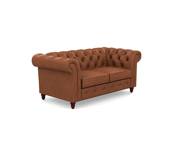 """**'Carlotta' 2 seater sofa, $499, from [Fantastic Furniture](https://www.fantasticfurniture.com.au/Categories/Summer-Event/Sofas-%26-Armchairs/Carlotta-2-Seater-Sofa/p/CTASOF2STOOOPLRTAN