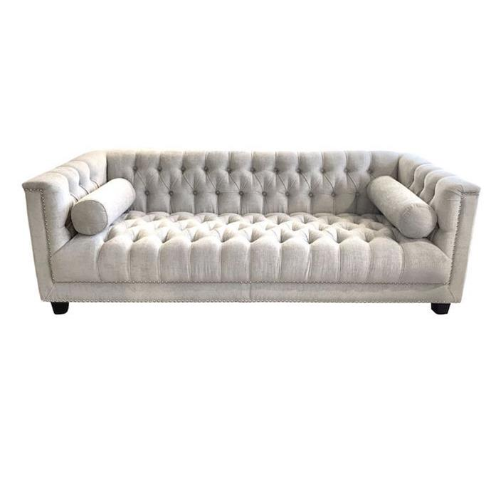 """**'Manny' 3-seater sofa in oyster, $2799, from [LM Home Interiors](https://lmhomeinteriors.com.au/product/manny-3-seater-sofa-in-oyster/