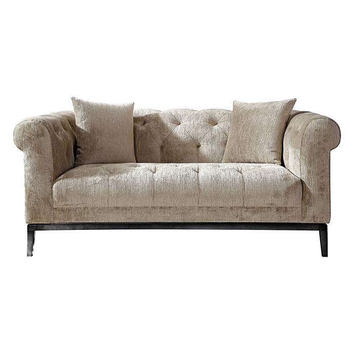 """**'Sparrow' velvet 2 seater sofa, $2079.20, [Zanui](https://www.zanui.com.au/Sparrow-Velvet-2-Seater-Sofa-161053.html
