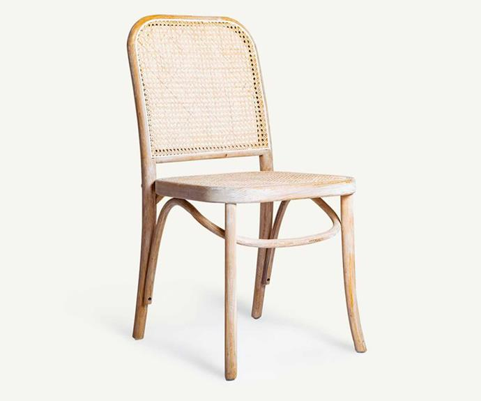 """**Sari Dining Chair, $390, [MCM House](https://www.mcmhouse.com/collections/dining-chairs/products/sari-cane-dining-chair