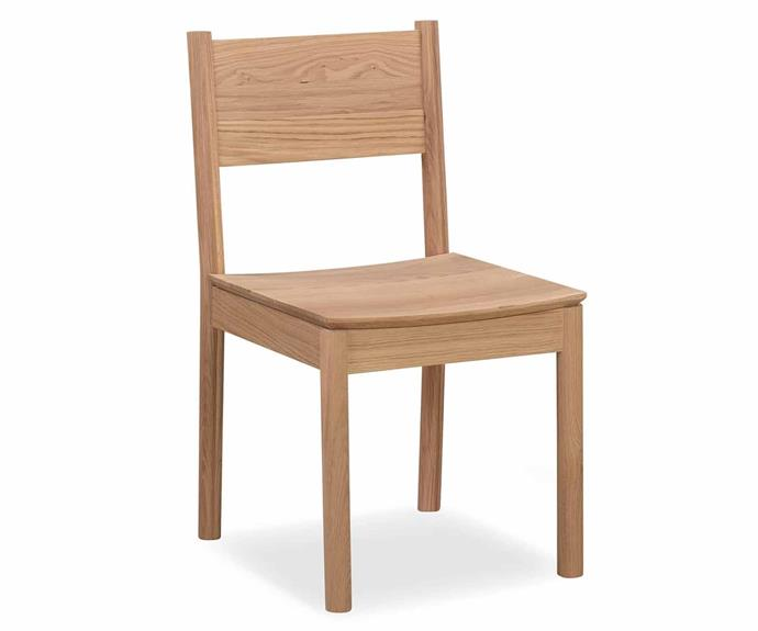 """**Perch Dining Chair, $349, [RJ Living](https://www.rjliving.com.au/buy-perch-dining-chair.html