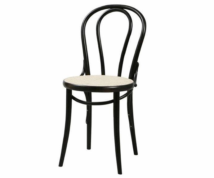 """**Thonet No. 18 Chair, $341, [The Wood Room](https://thewoodroom.com.au/collections/chairs/products/n0-18-chair-black-cane
