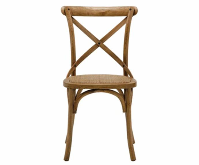 """**Cristo Cross Back Dining Chair, $149, [OzDesign Furniture](https://ozdesignfurniture.com.au/furniture/dining/dining-chairs/cristo-cross-back-chair-in-natural-oak
