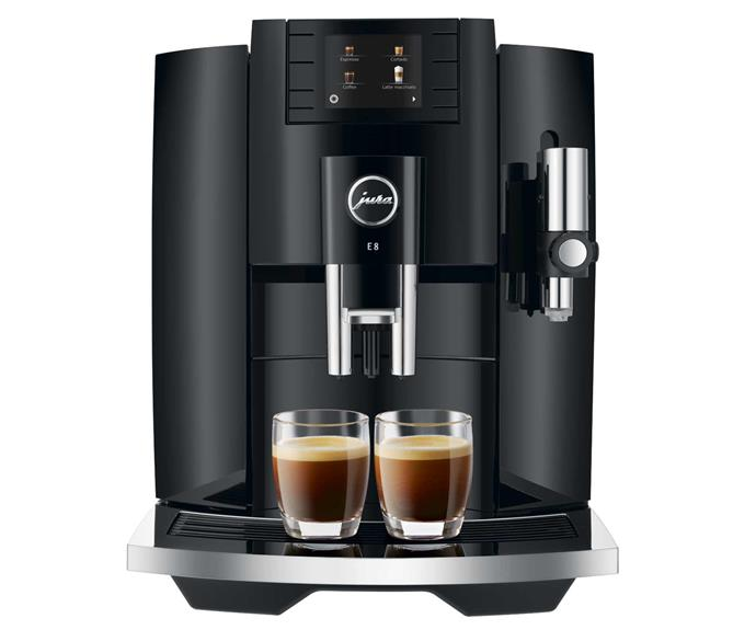 "**Jura E8 automatic coffee machine, $2290, [Jura](https://au.jura.com/en/homeproducts/machines/E8-Piano-Black-INTA-15372|target=""_blank""