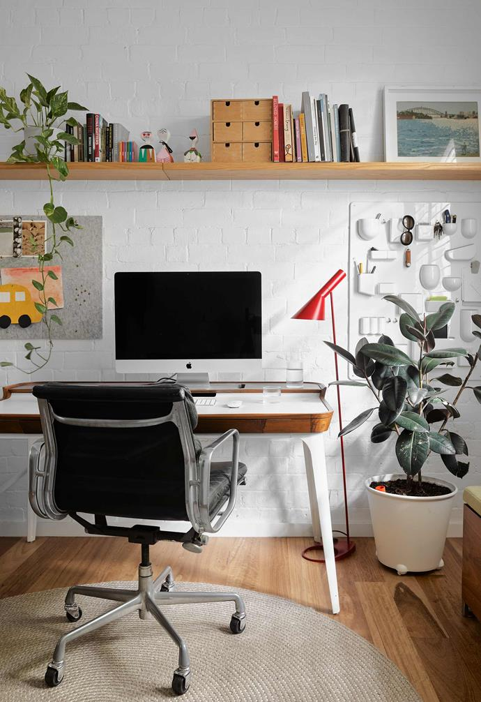 "**Study** Fitting snugly into the space at the front of the house is a Herman Miller 'Airia' desk and Eames 'Soft Pad' chair, both from [Living Edge](https://livingedge.com.au/|target=""_blank""