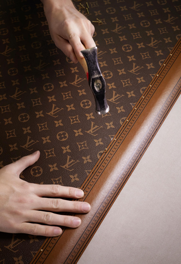 """**1896:** The iconic monogrammed canvas was created and copyrighted by Louis' son Georges in 1896. It combined the founder's interlaced 'LV' initials with diamond-shaped [floral motifs](https://www.homestolove.com.au/how-to-decorate-with-florals-2434 target=""""_blank"""")."""