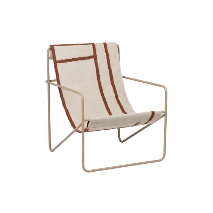 "**Ferm Living 'Desert' lounge chair, $427, [Finnish Design Shop](https://www.finnishdesignshop.com/furniture-chairs-armchairs-desert-lounge-chair-cashmere-shapes-p-27872.html|target=""_blank""
