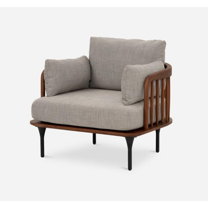 "**'Wayne' armchair, $899, [Castlery](https://www.castlery.com/au/products/wayne-armchair|target=""_blank""