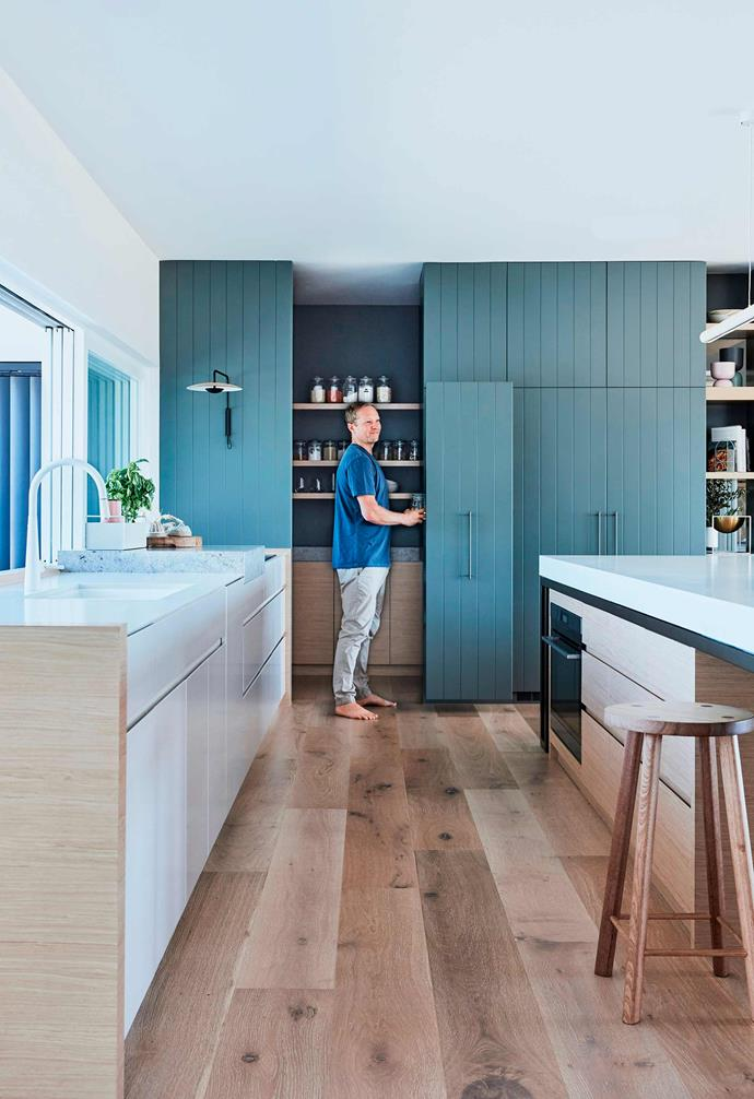 """The pantry in this [Federation-style home](https://www.homestolove.com.au/federation-house-bangalow-21522