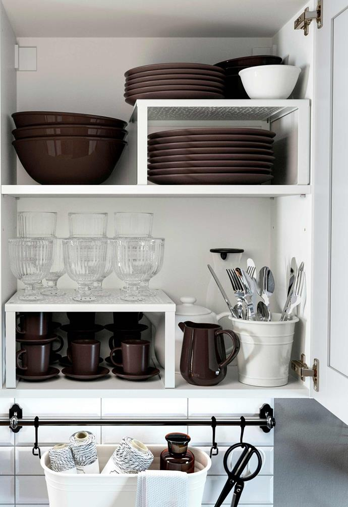 """Variera shelf inserts from [IKEA](https://www.ikea.com/au/en/