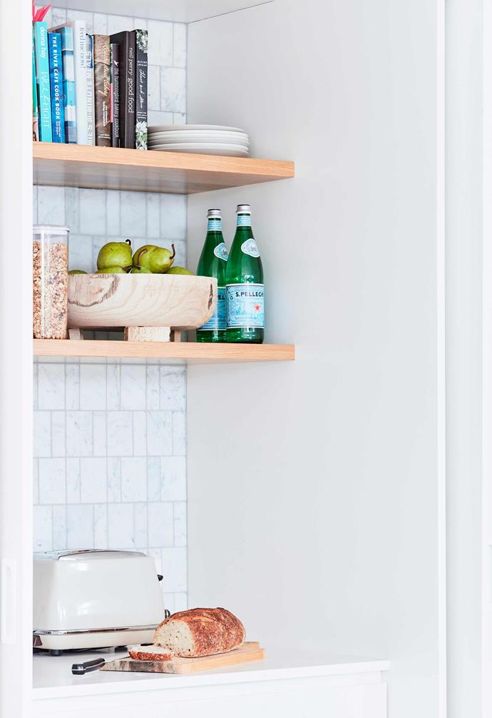 Your toast and/or tea station should also have just enough room to get the job done.