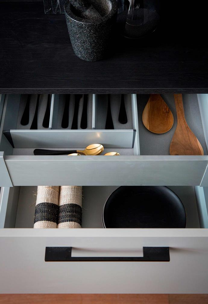 """Custom drawer inserts like these ones from [Kinsman Kitchens](https://kinsman.com.au/