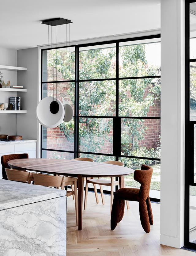 "A harmonious fusion of Japanese, contemporary and Victorian influences instils a sense of effortless calm within this [home](https://www.homestolove.com.au/updated-victorian-home-with-japanese-influences-20551|target=""_blank""). Steel-rimmed doors offer a nod to traditional Japanese shoji screens."