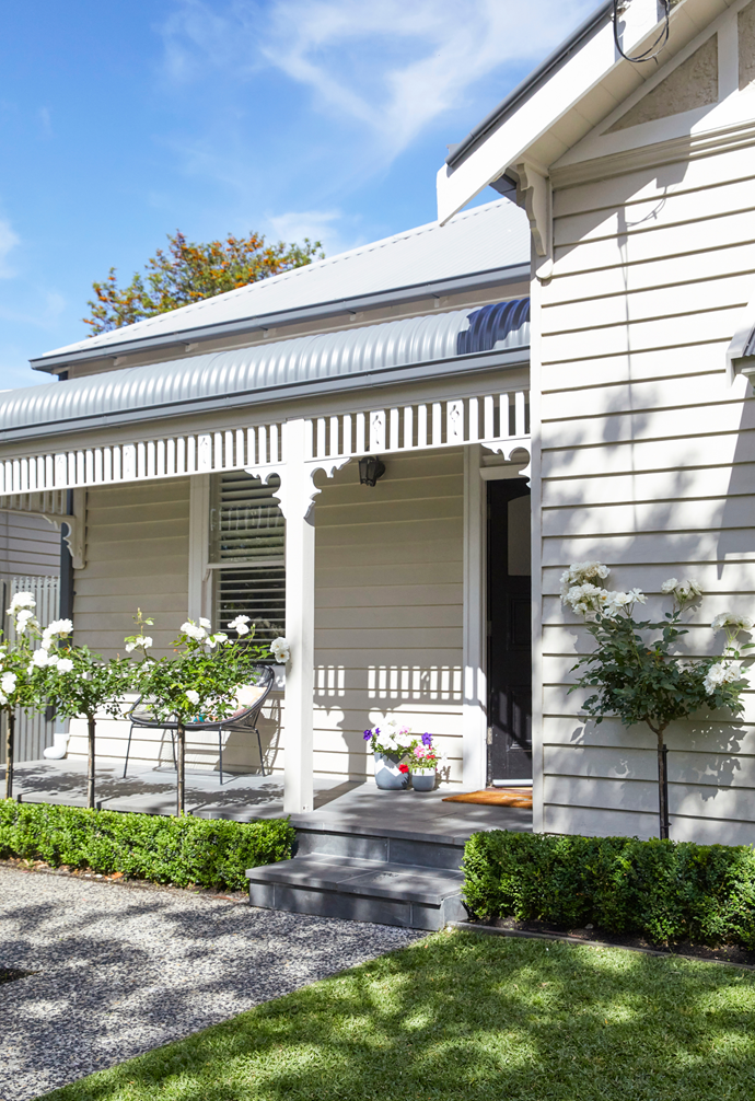 Gemma and Dale's home has a gracious facade and a bullnose verandah.