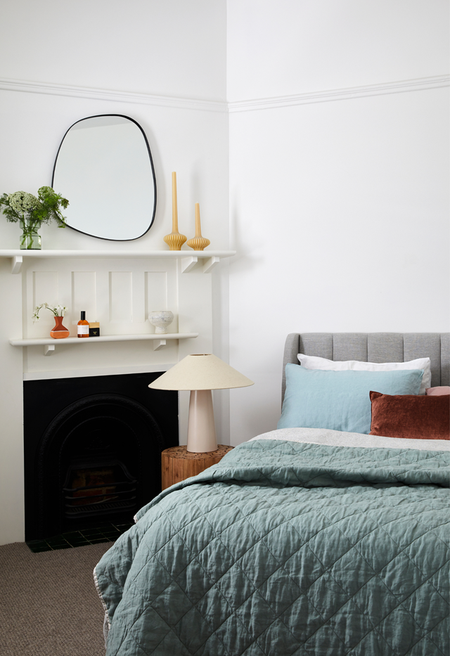 Making your bed first thing in the moment will set the tone for the rest of the day.