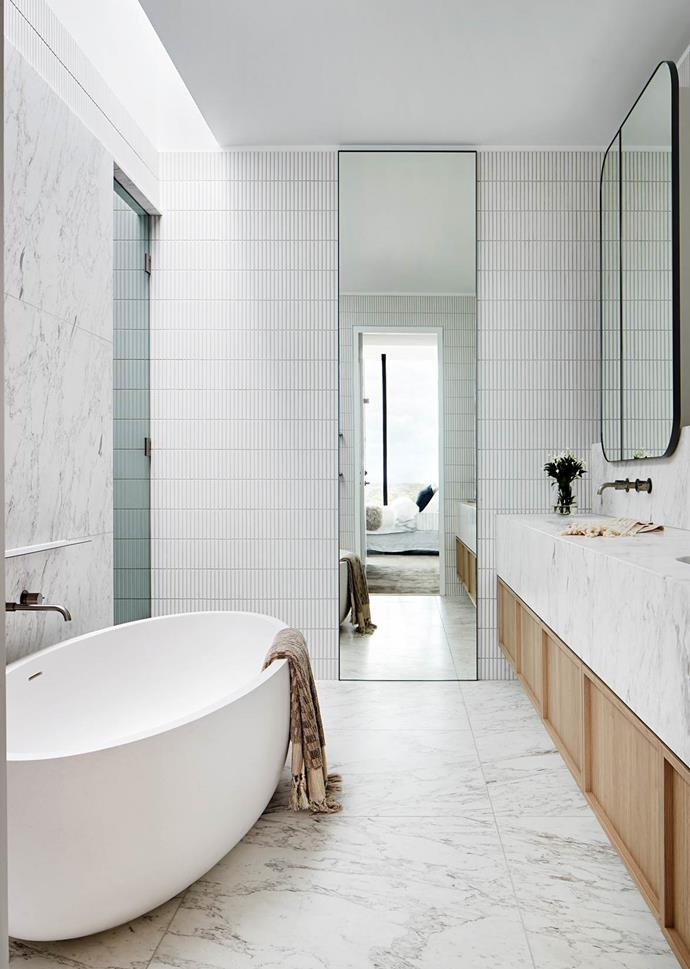 """Small details like beautiful brass tapware, luxurious towels and [lovely hand soap](https://www.homestolove.com.au/hand-wash-soap-21268