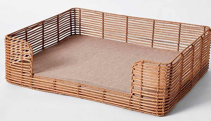 """**Cooper Large Poly Rattan Dog Bed, $99, [Target](https://www.target.com.au/p/cooper-large-poly-rattan-dog-bed/63862485