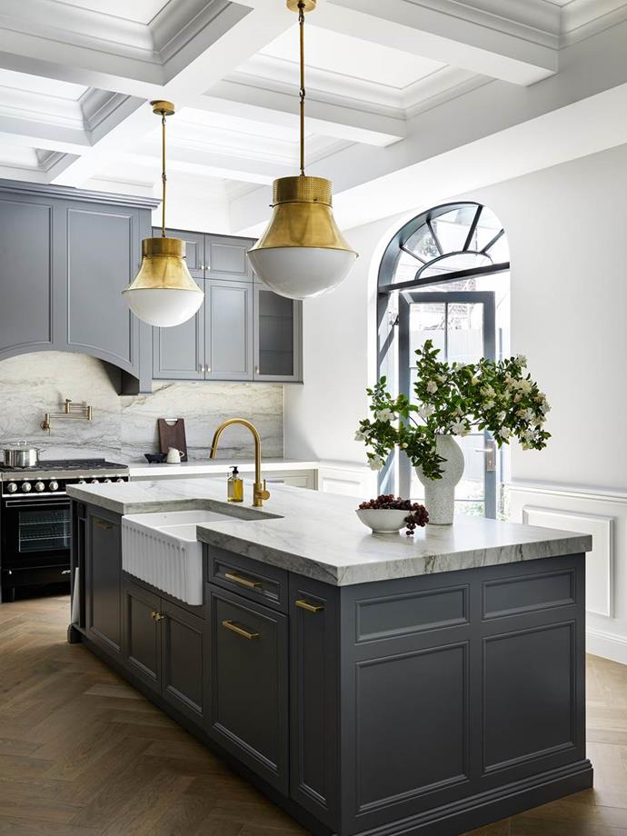 The brief from the owners of this gracious Federation-era Sydney home was clear: create a light, luxe new kitchen in which timeless form truly meets function. Interior architect Jade Bury, director of Harper Lane Design, relished the task and created this masterpiece with charcoal navy cabinetry.
