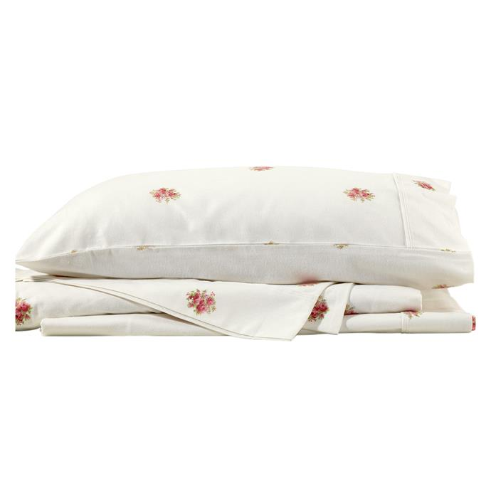 "**'French Bouquet' flannelette cotton sheet set by Bianca, starting from $79.95, [Temple & Webster](https://www.templeandwebster.com.au/French-Bouquet-Flannelette-Cotton-Sheet-Set-BICN2439.html|target=""_blank""