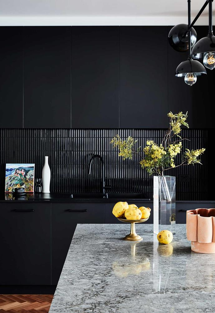"""**Kitchen** The Inax splashback tiles from [Artedomus](https://www.artedomus.com/