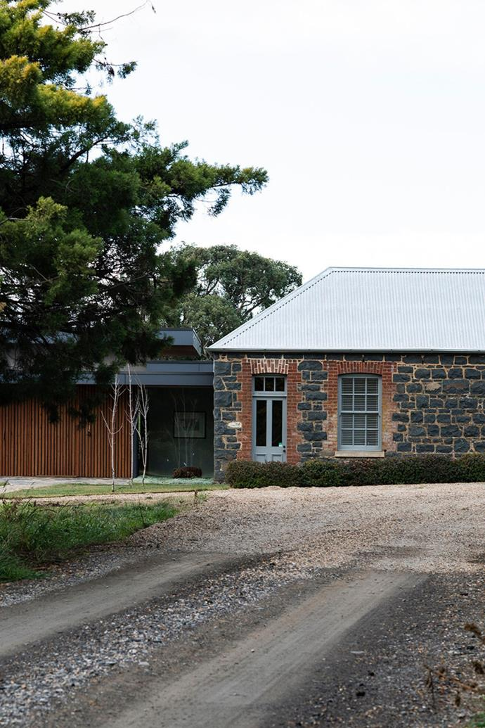 "While this [architectural farmhouse just outside of Yass](https://www.homestolove.com.au/contemporary-stone-farmhouse-21535|target=""_blank"") isn't centuries old, the bluestone it's made from is. When Steve and Fiona Green first purchased the property, they found piles of bluestone scattered around the property - the remains of a 1800s-era homestead that had fallen into disrepair. Working with architect Rodney Moss, the couple decided to rebuild the old structures where they stood, adding a contemporary wing made from steel and glass."