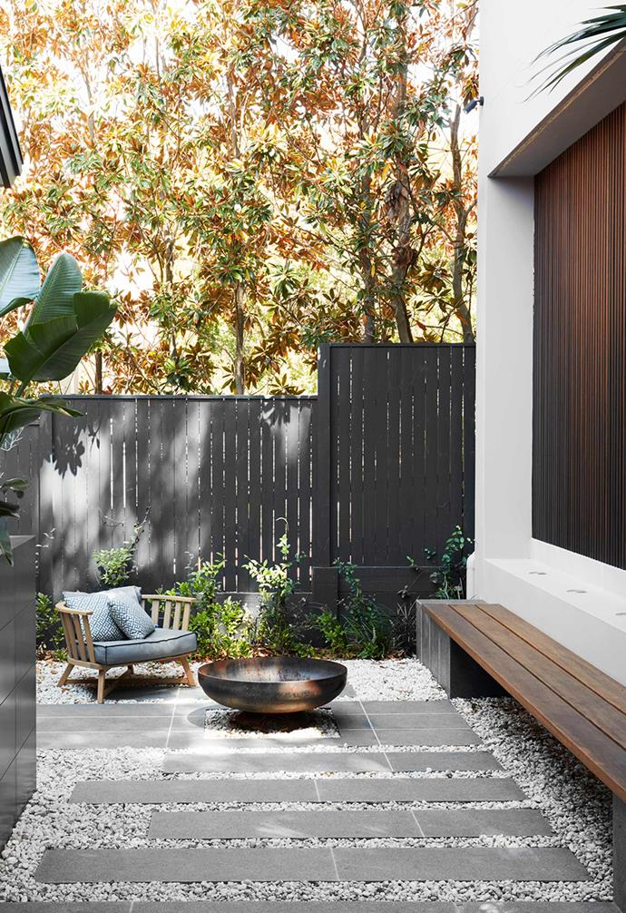 """In the courtyard of this [modern family home inspired by Japanese design](https://www.homestolove.com.au/modern-family-home-with-japanese-influence-22163