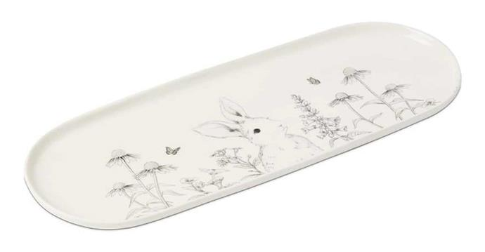 "**Fleur Harris Rabbit Tray, $14.99, [Adairs](https://www.adairs.com.au/homewares/tableware/home-republic/fleur-harris-rabbit-tray/|target=""_blank""