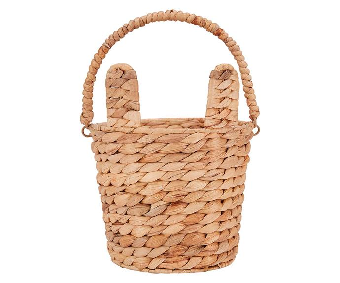 "**Wicker Bunny Basket, $8, [Kmart](https://www.kmart.com.au/product/wicker-bunny-basket/3443351|target=""_blank""