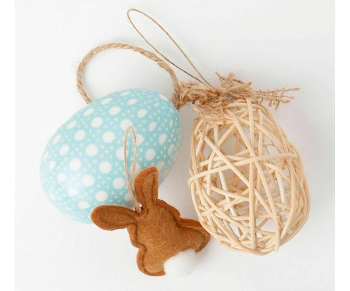 "**Heritage Decorative Easter Ornament Set, $18.71/set of 12, [Myer](https://www.myer.com.au/p/heritage-decorative-easter-ornament-set-12-pack|target=""_blank""