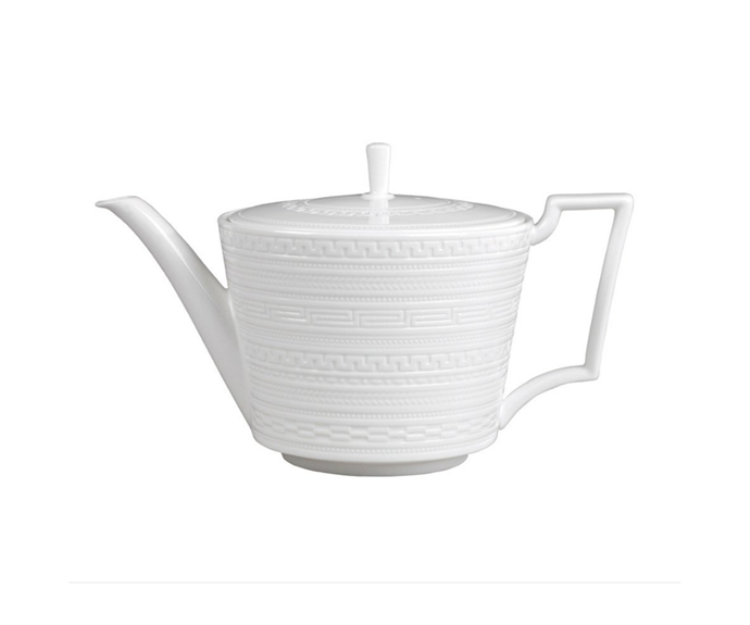 """Tea leaves strainers are for you alone so find yourself a **teapot** fit for a tea party. There are few more beautiful than Wedgwood's elegant designs.<br> <br> Intaglio Teapot, $139, [Wedgwood](https://www.wedgwood.com.au/intaglio-teapot-1ltr.html