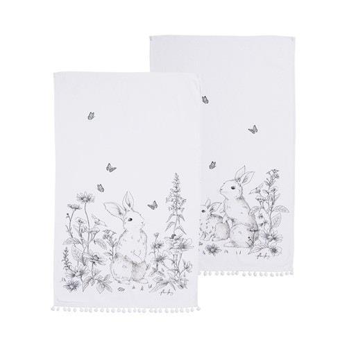 "Adairs Fleur Harris White & Black Rabbit Tea Towels 2 Pack, $29.99, [Adairs](https://www.adairs.com.au/homewares/tableware/home-republic/fleur-harris-white--black-rabbit-tea-towels-2-pack/|target=""_blank""|rel=""nofollow"")."