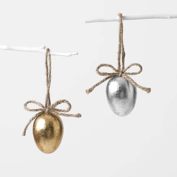 "Morgan & Finch Metallic Egg Decoration, $2.99, [Bed, Bath N' Table](https://www.bedbathntable.com.au/gift/easter/e-hangdec-gold-140106|target=""_blank""|rel=""nofollow"")."
