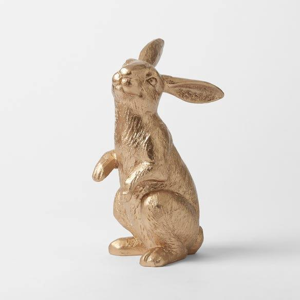 "Morgan & Finch Metallic Standing Bunny, $29.99, [Bed, Bath N' Table](https://www.bedbathntable.com.au/gift/easter/metallic-standing-bunny-gold-20806001|target=""_blank""|rel=""nofollow"")."