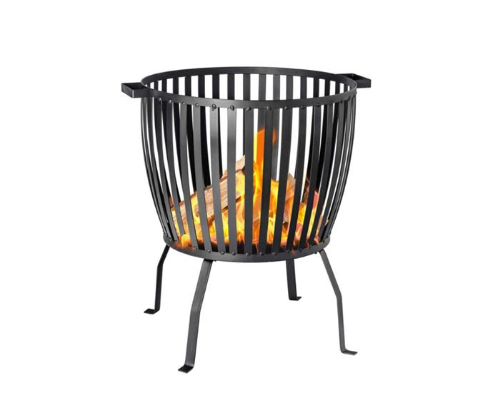 """**[Outdoor patio heater basket by Harbour Housewares, $75.95, Catch.com.au](https://www.catch.com.au/product/harbour-housewares-fire-pit-outdoor-garden-patio-heater-brazier-basket-for-wood-charcoal-53cm-diameter-6650493