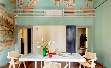 A romantic antique apartment with soaring ceilings