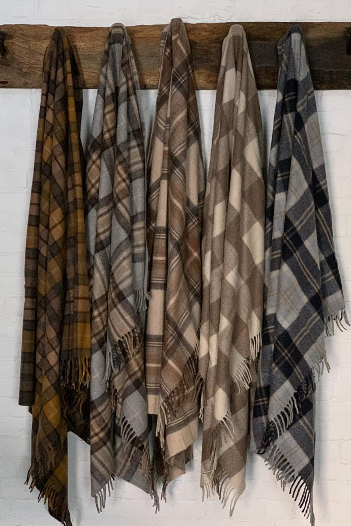 """**[Scottish Tartan wool blankets, $179 each (available in assorted colours), Tomolly](https://tomolly.com.au/collections/food-for-the-soul/products/tartan-throw target=""""_blank"""" rel=""""nofollow"""")** <br></br> No farmhouse is complete without a collection of warm and snuggly blankets. These recycled wool throws are eco-friendly and feel soft to the touch."""