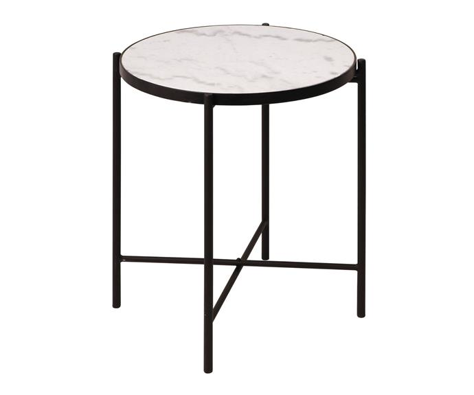 Side table with marble top, $49.99.
