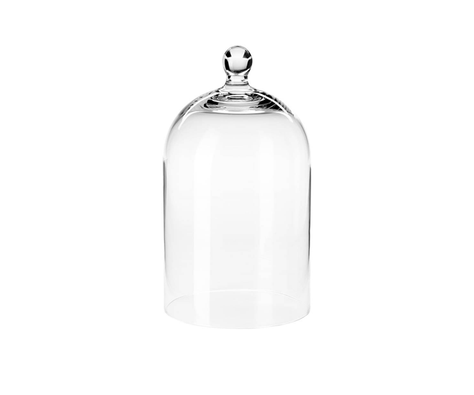 """**ORGONTIDIG Glass dome**, $12.99, [Ikea](https://www.ikea.com/au/en/p/morgontidig-glass-dome-clear-glass-50436288/