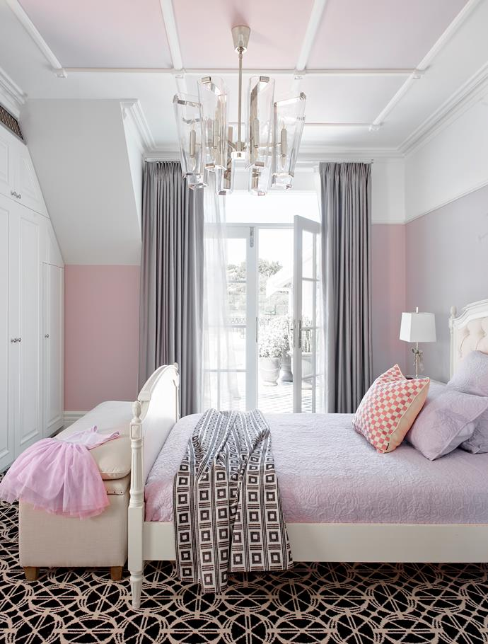 Walls painted Dulux Stately Frills. Storage bench, Restoration Hardware. Ellery Gros-Grain Bow table lamp, The Montauk Lighting Co.