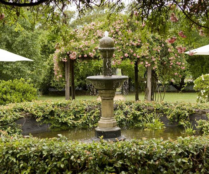 The expansive garden has become a popular site for local weddings and celebrations.