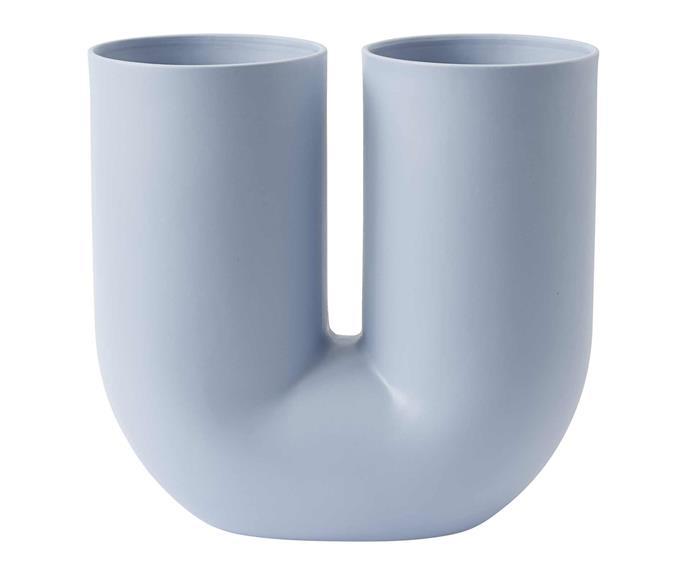 "Muuto 'Kink' vase, $329, [Living Edge](https://livingedge.com.au/accessories/glassware-vases/muuto-kink_vase/MU-KINK.html|target=""_blank""|rel=""nofollow"")."