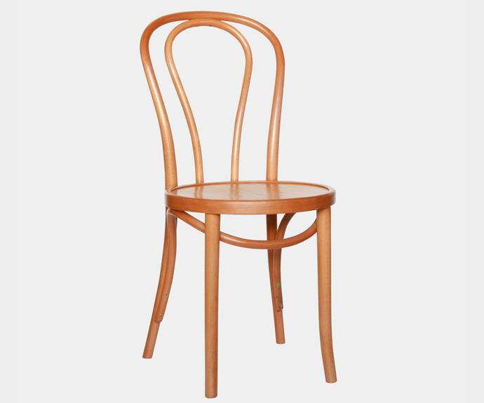 """No15 Valois chair in French Walnut Finish, $319, [Thonet](https://thonet.com.au/