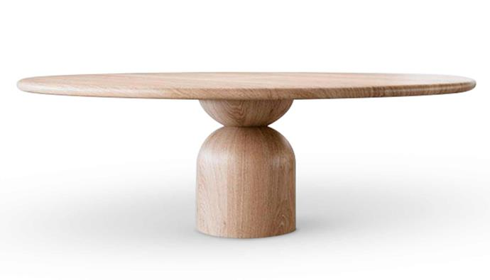 "D Bell table in Natural Oak, $16,240, [The Wood Room](https://thewoodroom.com.au/|target=""_blank""