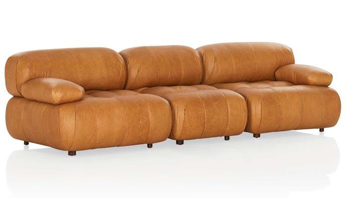 "Avila leather modular sofa, from $2545 per piece, [Coco Republic](https://www.cocorepublic.com.au/|target=""_blank""|rel=""nofollow"")."