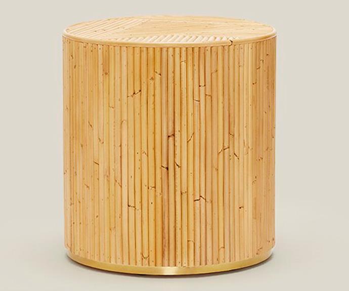 "Freddie side table, $495, [Sarah Ellison](https://sarahellison.com.au/|target=""_blank""|rel=""nofollow"")."