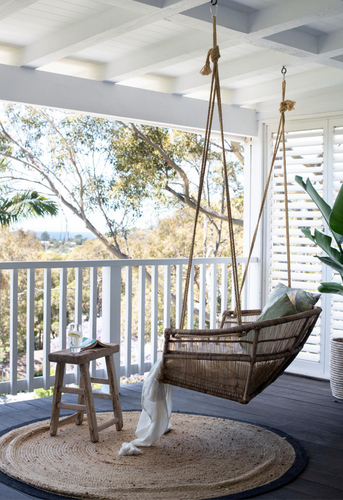 """""""It's right outside my daughter's bedroom, so it's kind of become her swing. She jumps around on it every morning."""""""