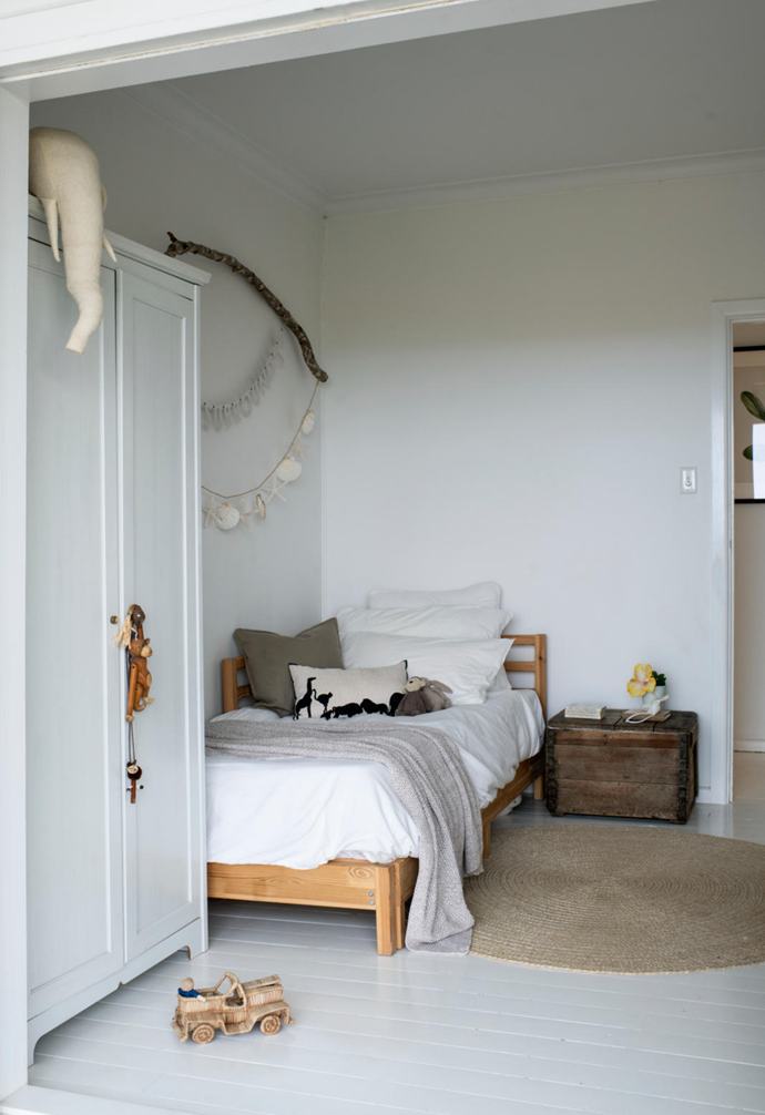 Mati's bedroom is perfectly in tune with the laid-back feel of the entire house.